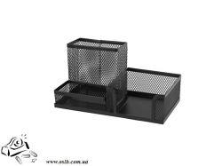 Подставка-органайзер Axent 2116-01-A, 203x105x100 мм, 3 отделения, черная