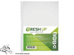 Прозрачные файлы Fresh А4 100шт 50мкм глянц