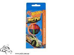 Карандаши цветные двусторонние Hot Wheels 12 шт (HW14-054K)
