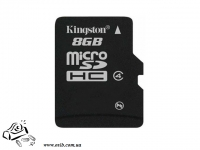 Карта памяти  KINGSTON SDC4 NAND Flash Micro SDHC 8GB  Plastic