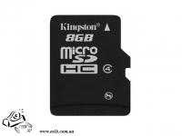 Карта памяти  KINGSTON SDC4 NAND Flash Micro SDHC 8GB  Plastic