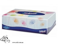 Салфетки бумажные Selpak в коробке 70 шт белые