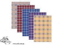 Блокнот А4 на пружине 48 листов в клетку шотландка 2460