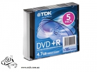 Диск DVD-R TDK 16x 4.7Gb slim