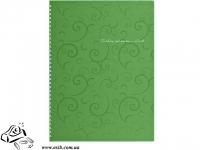 Тетрадь А4 80 листов в клетку Buromax Barocco BM.2446-615 зеленая