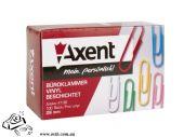 Скрепки Axent 4106 28мм круглые цветные 100шт