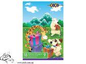 Бумага цветная KIDS Line 18 листов 9 цветов Zibi