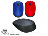 Мышь компьютерная Logitech M171 Wireless черная, зеленая, красная