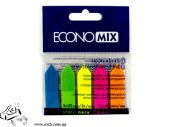 Стикеры-закладки EconoMix 20946 12х45мм 5х25шт Стрелки