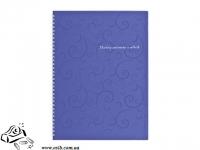 Тетрадь А4 Buromax Barocco BM.2446-607 80 листов в клетку на спирале фиолетовая