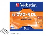 Диск DVD+R Verbatim  DL 8x  8.5GB  slime