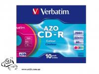 Диск CD-R Verbatim DataLife+ 52x 700MB slime Case