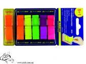 Стикеры-закладки BuroMax 2303-98 45х12мм POP-UP (5+1)х40 листов пластик