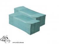 Бумажное полотенце листовое Z-обр 150 шт зеленые