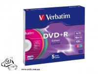 Диск DVD+R Verbatim 16x 4.7Gb slim