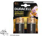 Батарейки Duracell Basic D 1.5V LR20, 2 шт.