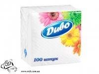 Салфетки бумажные Диво 25x25 1-слой 100 шт белые