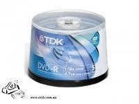 Диски DVD+R TDK 50шт 16x 4.7Gb 120мин