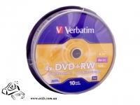 Диск DVD+RW Verbatim 4x 4.7Gb
