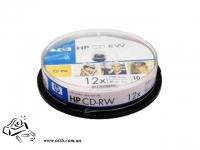 Диски CD-RW НР 10шт 12x 700Mb