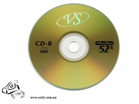 Диски CD-RW VS (CMC) 700Mb 4-12x bulk 50 gold