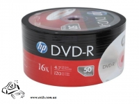 Диски DVD-R HP 4.7 Gb 16x Shrink 50 printable