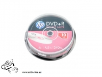 Диски DVD+R HP 8,5 Gb 8x cake 10