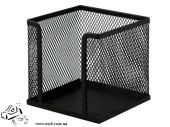 Бокс для бумаги Buromax 6215-01 100х100х100мм металлический черный