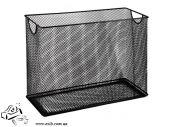 Короб для подвесных файлов металлический черный  BM.6236-01