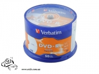 Диски DVD-R Verbatim 4.7Gb 16x Cake box 50 548