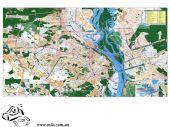 План г.Киева 140х200см М1:15 000 ламинация/планки