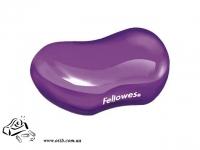 Подушка гелевая под запястье Fellowes Crystals фиолетовая
