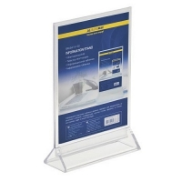 Інформаційна табличка двостороння 150*200мм, прозора