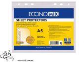 Прозрачные файлы EconoMix А5 100шт 30мкм глянец E31104-50