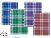 Тетрадь А6 спираль 48 листов клетка шотландка 2592 асс