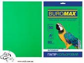 Бумага цветная двухсторонняя BuroMax  INTENSIV А4 50 листов в ассортименте