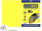 Бумага цветная двухсторонняя BuroMax NEON А4 50 листов желтая